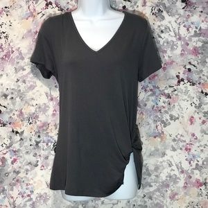 🆕  V Neck Twist Shirt Casual Sexy Loose Fit Top